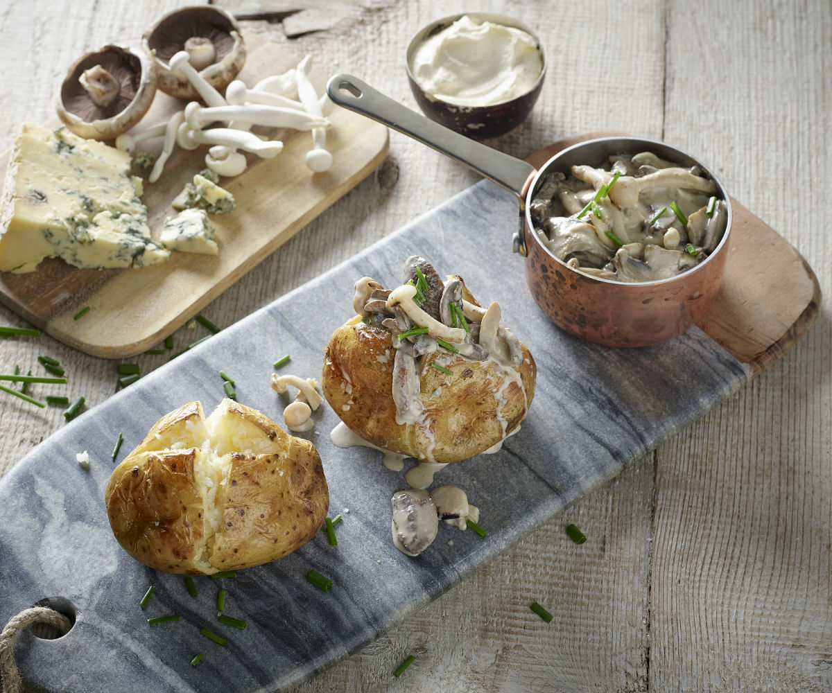 Image of Blue Cheese and 'Shrooms comfort food recipe
