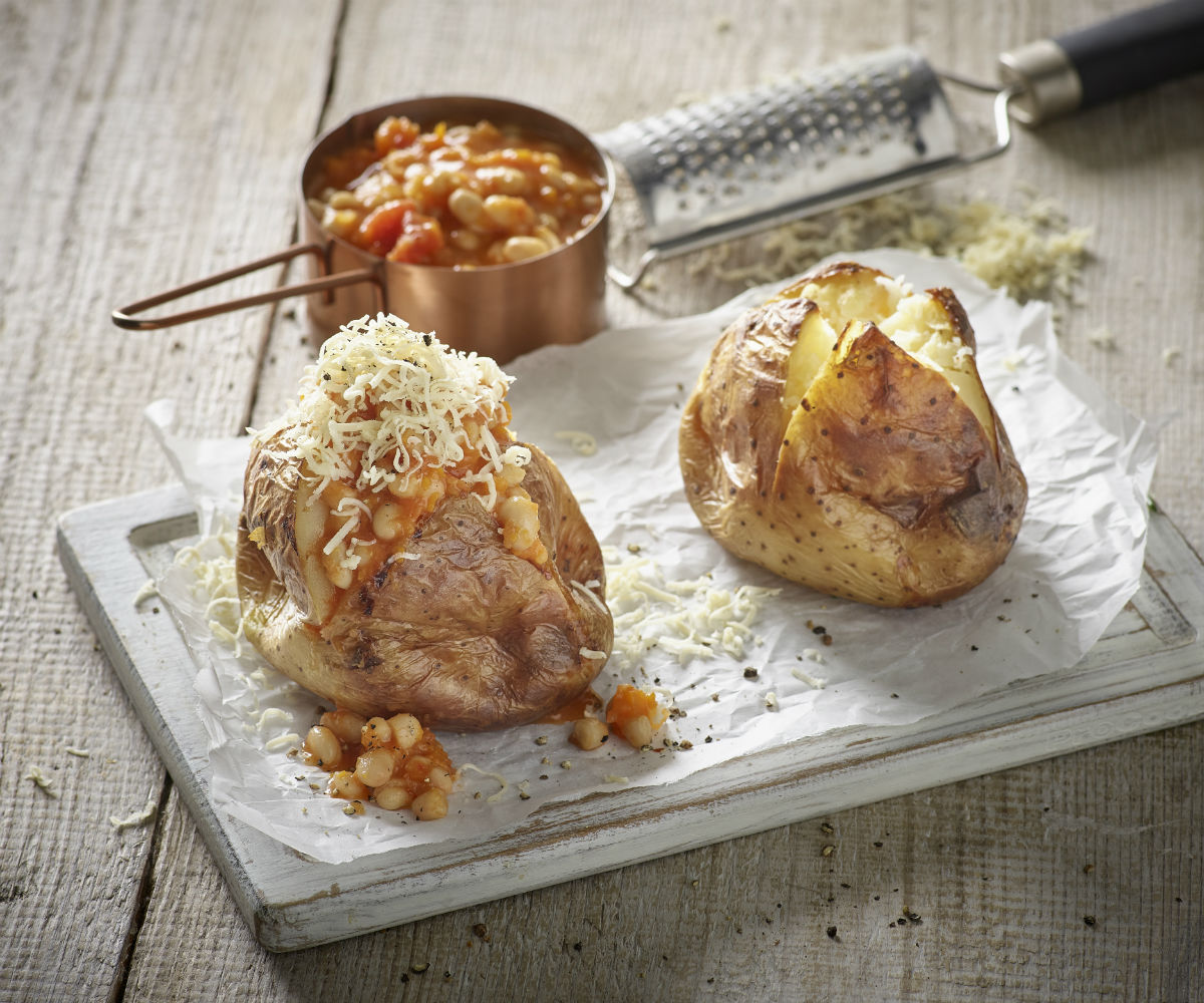 Image of Home Baked Beans with Baked Jacket Potato