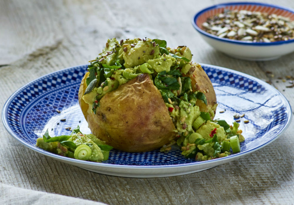 Image of Glorious Greens recipe to support Healthy Baked Potato Recipes blog