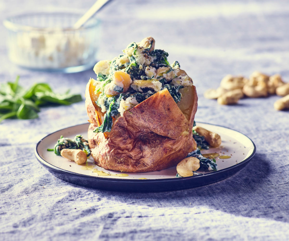 Image of Splendid Spinach recipe to support Healthy Baked Potato Recipes blog