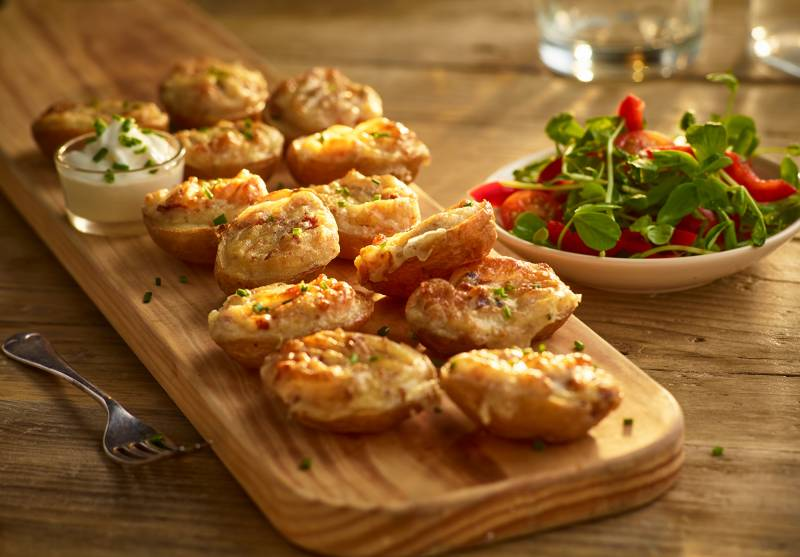 Cheese & Bacon Mini Potato Skins
