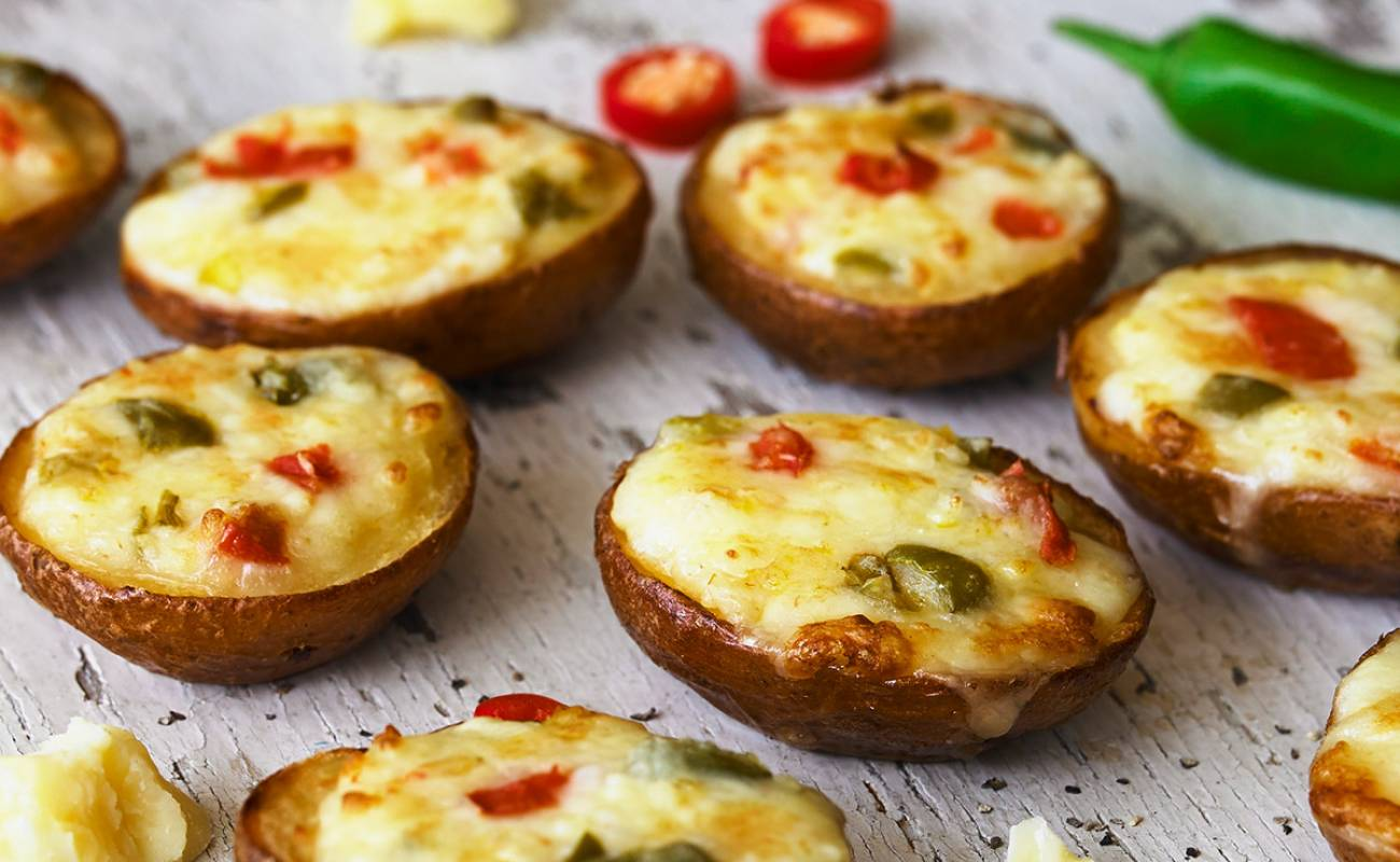 Cheese & Jalapeño Potato Skins